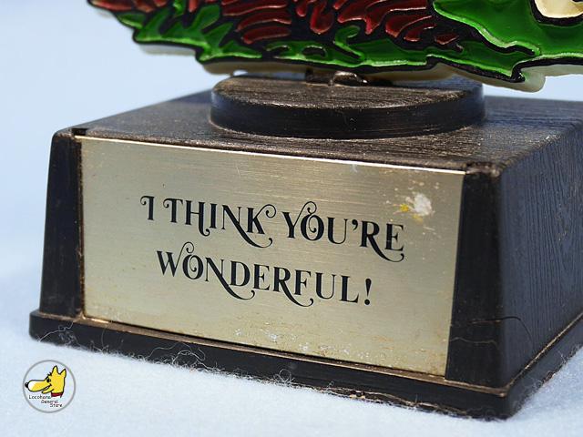 ビンテージ Aviva 1970〜80's スヌーピー  トロフィー I THINK YOU'RE WONDERFUL!