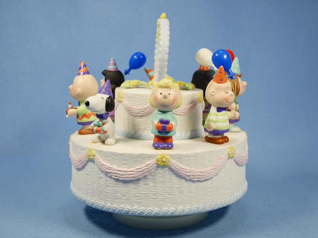 ビンテージ Willitts '90  スヌーピー オルゴール 40th Anniversary Musical Cake 箱入