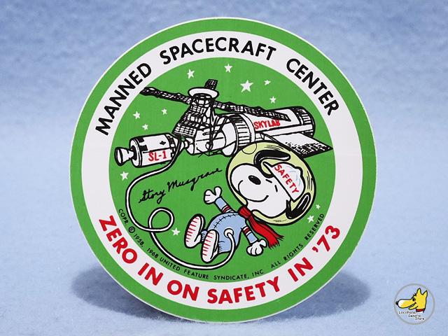 ビンテージ  '73  スヌーピー Skylab SL-1 スカイラブ 1号 ステッカー