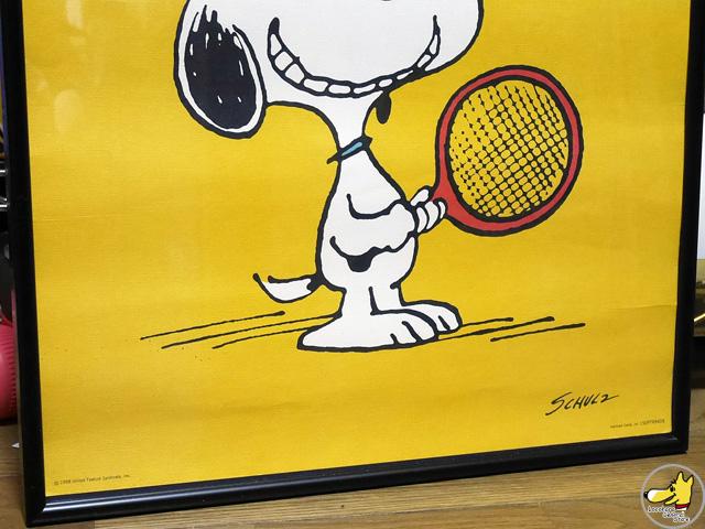 ビンテージ Hallmark '70s  スヌーピー Poster テニス ポスター