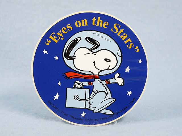 """ビンテージ '69   スヌーピー  ステッカー  アストロノーツ  """"Eyes on the Stars"""""""