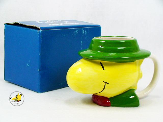 ビンテージ Applause '92 スヌーピー Figural face mug ウッドストック フェイス マグ 箱付