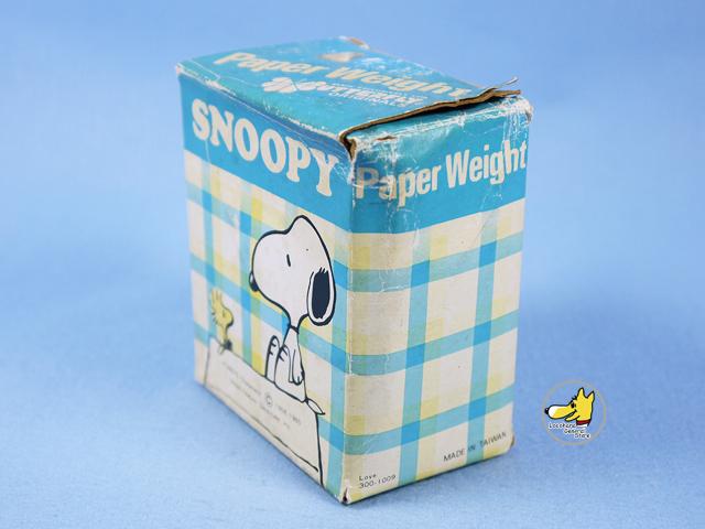 ビンテージ Butterfly Originals '70s スヌーピー Paperweigh  スヌーピー&ウッドストック 箱入り