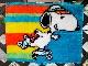 ビンテージ スヌーピー '70s フロアマット  ローラースケート