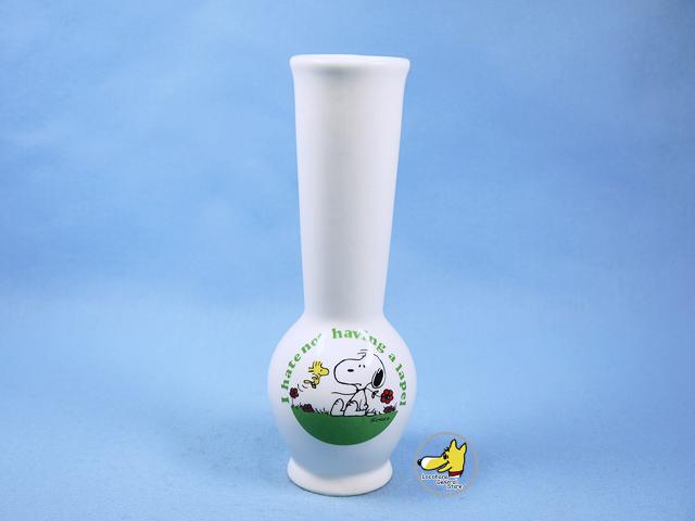 ビンテージ Determined '70s スヌーピー&ウッドストック  Vase 花瓶