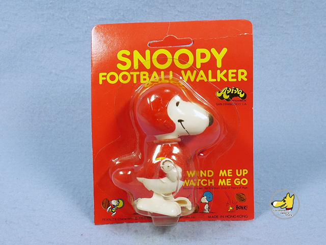ビンテージ Aviva '70s スヌーピー フットボール Mini  Walkers トコトコ パッケージ入未開封