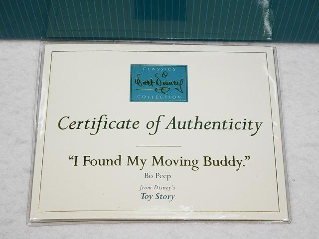 """【送料無料】TOY STORY WDCC Bo Peep  トイストーリー ボーピープ """"I Found My Moving Buddy"""" 新品箱入"""