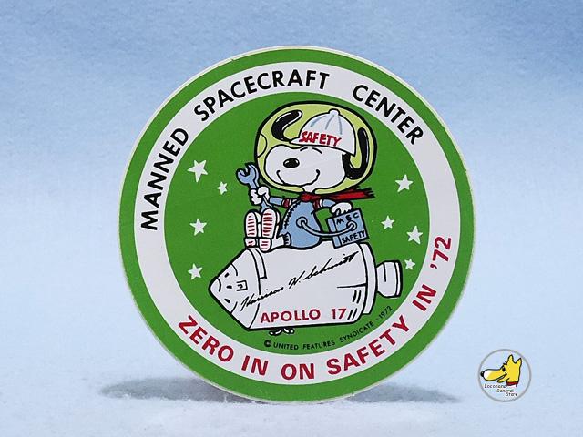 ビンテージ  '72  スヌーピー APOLLO 17 アポロ 17号 ステッカー