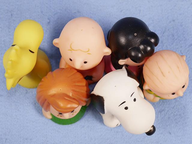 ビンテージ IDEAL '76  スヌーピー  Peanuts  Finger  Puppet 6体セット