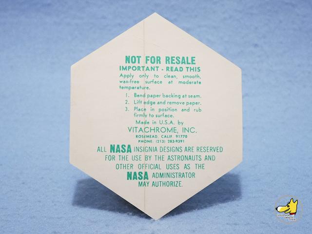 ビンテージ '71   スヌーピー  NASA アストロ ステッカー