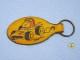 ビンテージ Aviva 1970〜80's スヌーピー レザーキーホルダー レースカー �