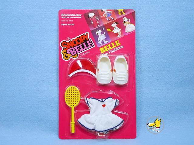 ビンテージ Knickerbocker '83 スヌーピー Fun  Fashions ベル Outfits Tennis