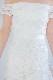 ペプラムフリルオフショルクローシェドレス C3133WH