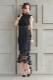 ラッセルレースシフォンワンピース CF002BK