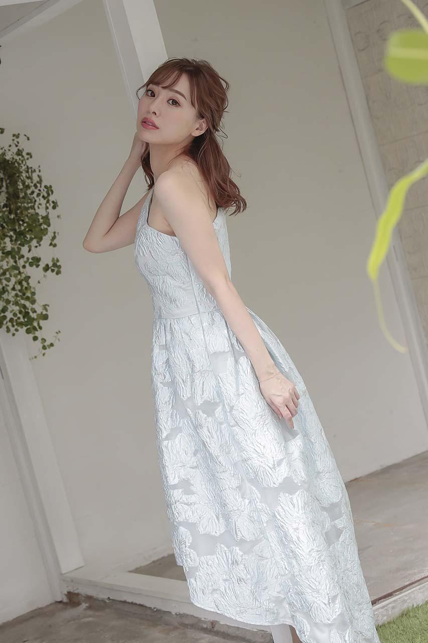 ワンショルダージャガードドレス C1569LB