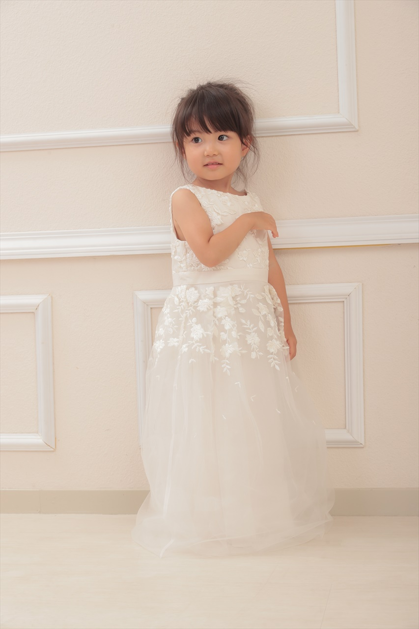 Chi Chi Girls エンブロイダリーロングドレス 3-7歳 CG3252CR