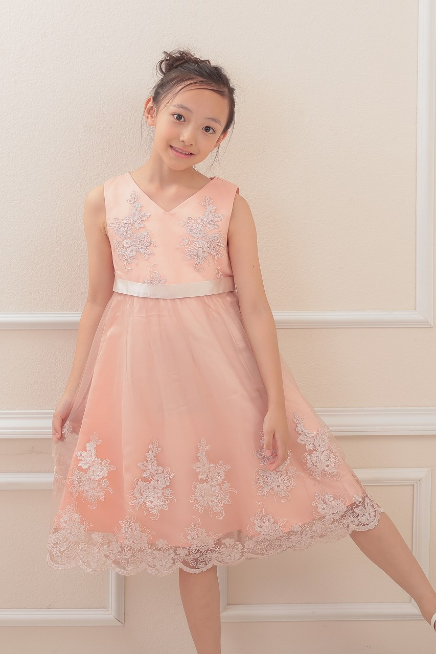 Chi Chi Girls エンブロイダリーピンクゴールドドレス 8-12歳 CG52296PG