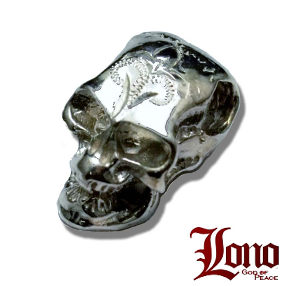 Lono ハワイアンジュエリー スカルペンダント Lサイズ PD020