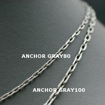 Lono ハワイアンジュエリー グレイチェーン ANCHOR GRAY 80