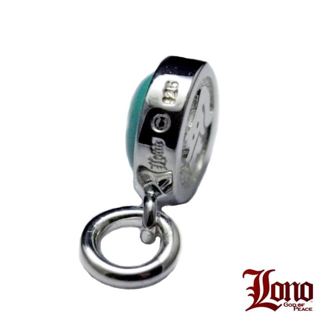 Lono ハワイアンジュエリー ターコイズイニシャルペンダント PI010+TQ(A〜Y)