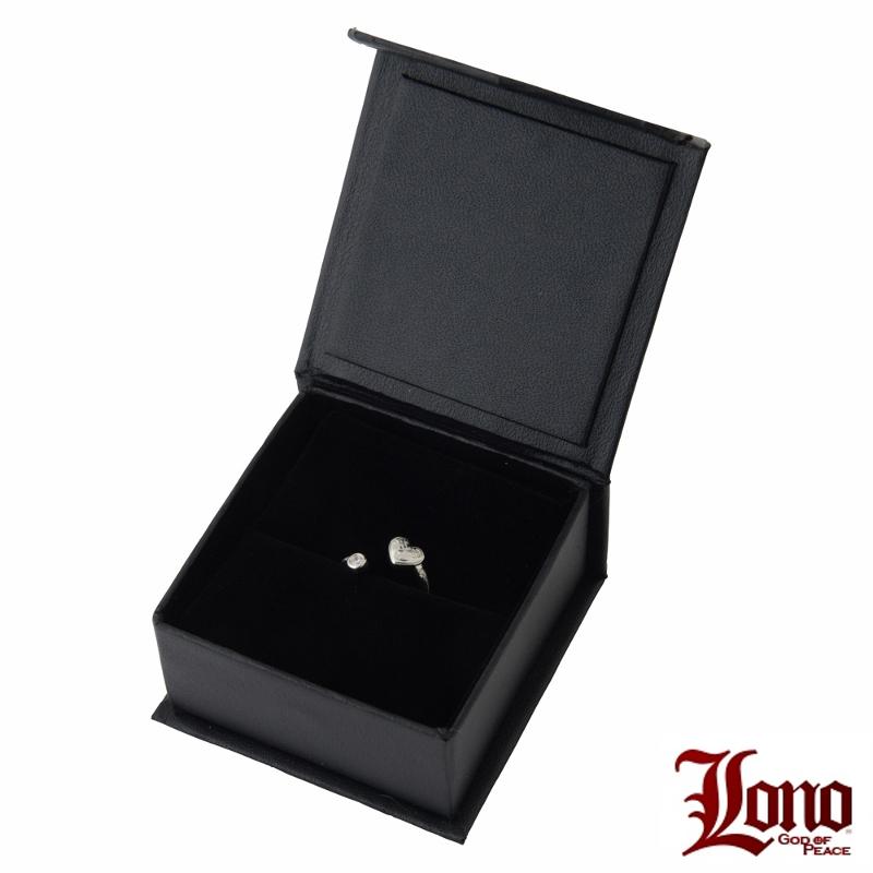 Lono ハワイアンジュエリー ファランジハートリング LN40++CZ
