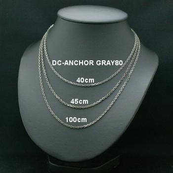 Lono ハワイアンジュエリー ダイヤモンドカット グレイチェーン DC-ANCHOR GRAY 100