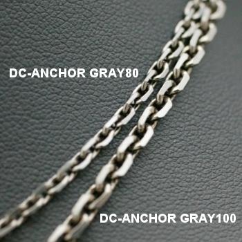 Lono ハワイアンジュエリー ダイヤモンドカット グレイチェーン DC-ANCHOR GRAY 80