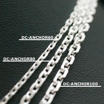 Lono ハワイアンジュエリー ダイヤモンドカット チェーン DC-ANCHOR 80