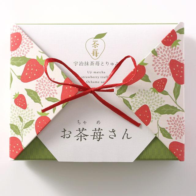 京都を、おうちで。【伊藤久右衛門】宇治抹茶苺とりゅふ 「お茶苺さん」 4箱(送料無料)