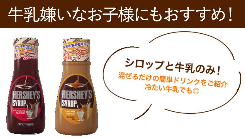 【HERSHEY'S】カンタン!楽しく美味しいシロップセット/チョコ2本キャラメル1本(おうちカフェ)
