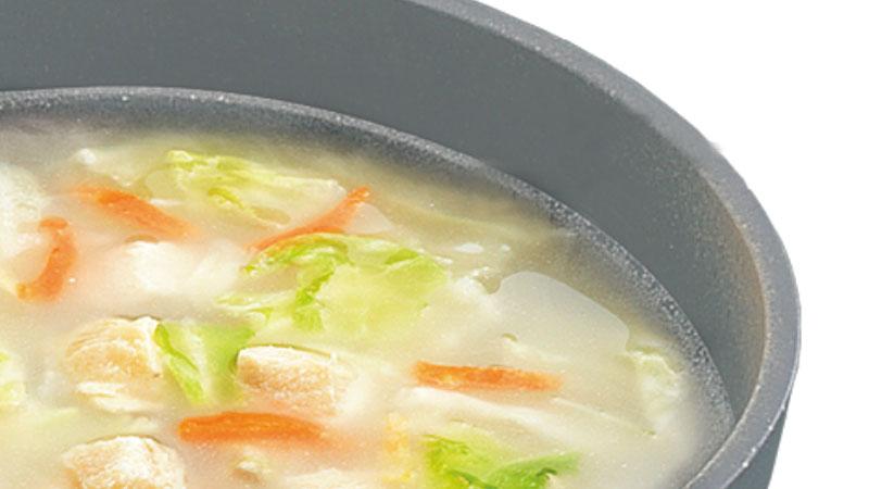 うまみたっぷり!【博多華味鶏監修】フリーズドライ鶏白湯スープ10食セット(送料無料)