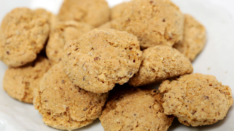 珈琲専門店が作る/ピーナッツたっぷり【まころん】昔懐かしいクッキー4袋セット