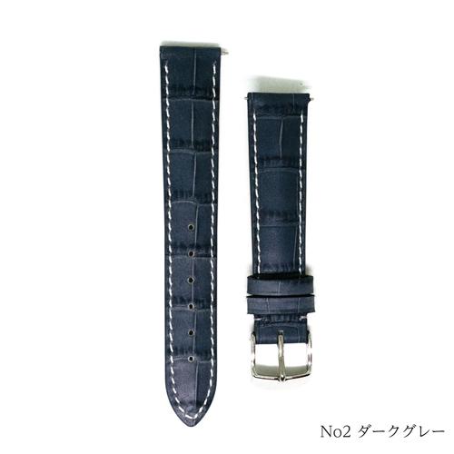 GPF Made in Italy アリゲーター型押し  厚型 つやなし
