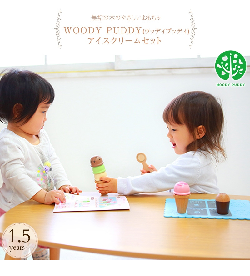 WOODY PUDDY ウッディプッディ アイスクリームセット G05-1170 おうち時間