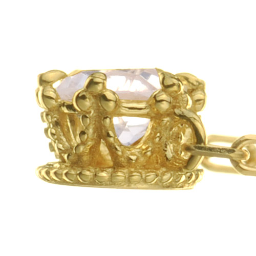 【他商品との同梱不可】 カレン K18 ダイヤモンドネックレス precious K18 diamond necklace precious 18金/18k/ペンダント/誕生石/クラウン/ティアラ