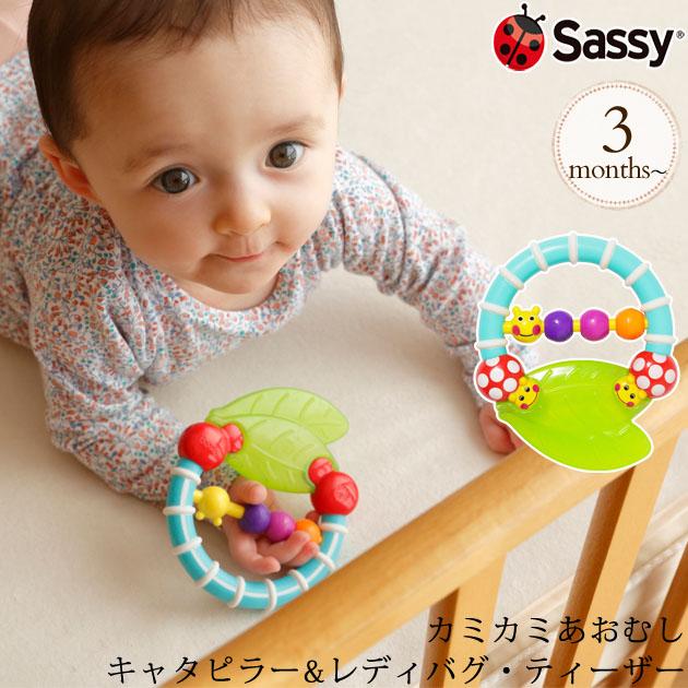 Sassy サッシー  カミカミあおむし キャタピラー&レディバグ・ティーザー TYSA80678
