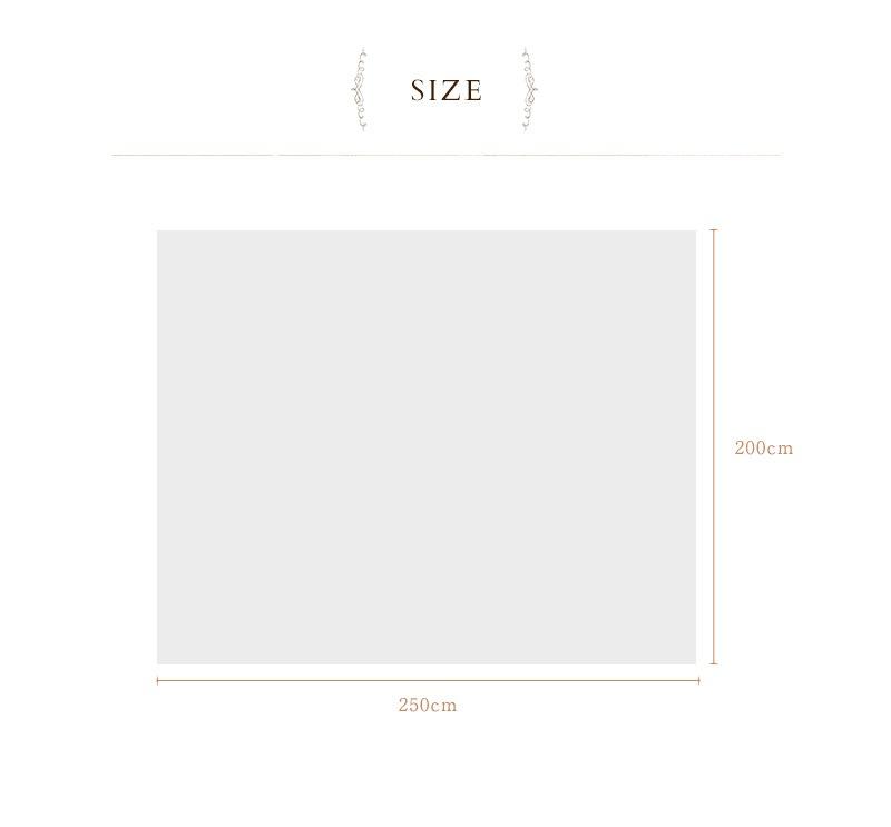 mofua モフア イブル CLOUD柄 綿100% マルチカバー Lサイズ W200×H250cm