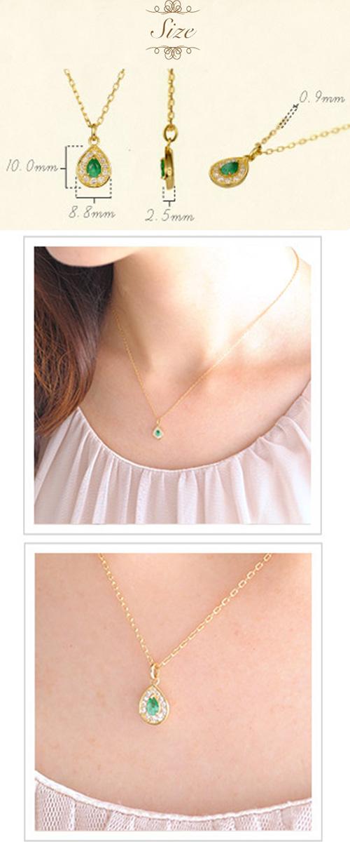【他商品との同梱不可】 カレン K18 誕生石ネックレス rise K18 birthstone necklace rise 18金/18k/ペンダント/ルビー/サファイア/エメラルド/