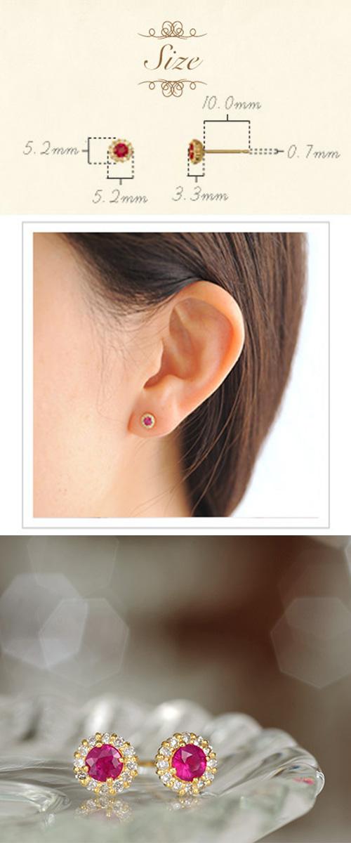 【他商品との同梱不可】 カレン K18誕生石ピアス cheer K18 birthstone pierced earrings cheer K1818金/18k/ピアス/イエローゴールド/ピンクゴールド/ホワイトゴールド/シンプル/ルビー/サファイア/