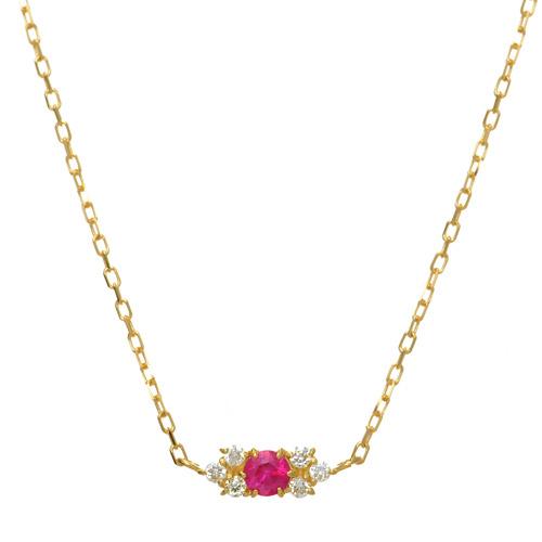 【他商品との同梱不可】 カレン K18誕生石ネックレス fair K18 birthstone necklace fair K1818金/18k/ネックレス/ペンダント/ルビー/サファイア/エメラルド/アメジスト/ペリドット/