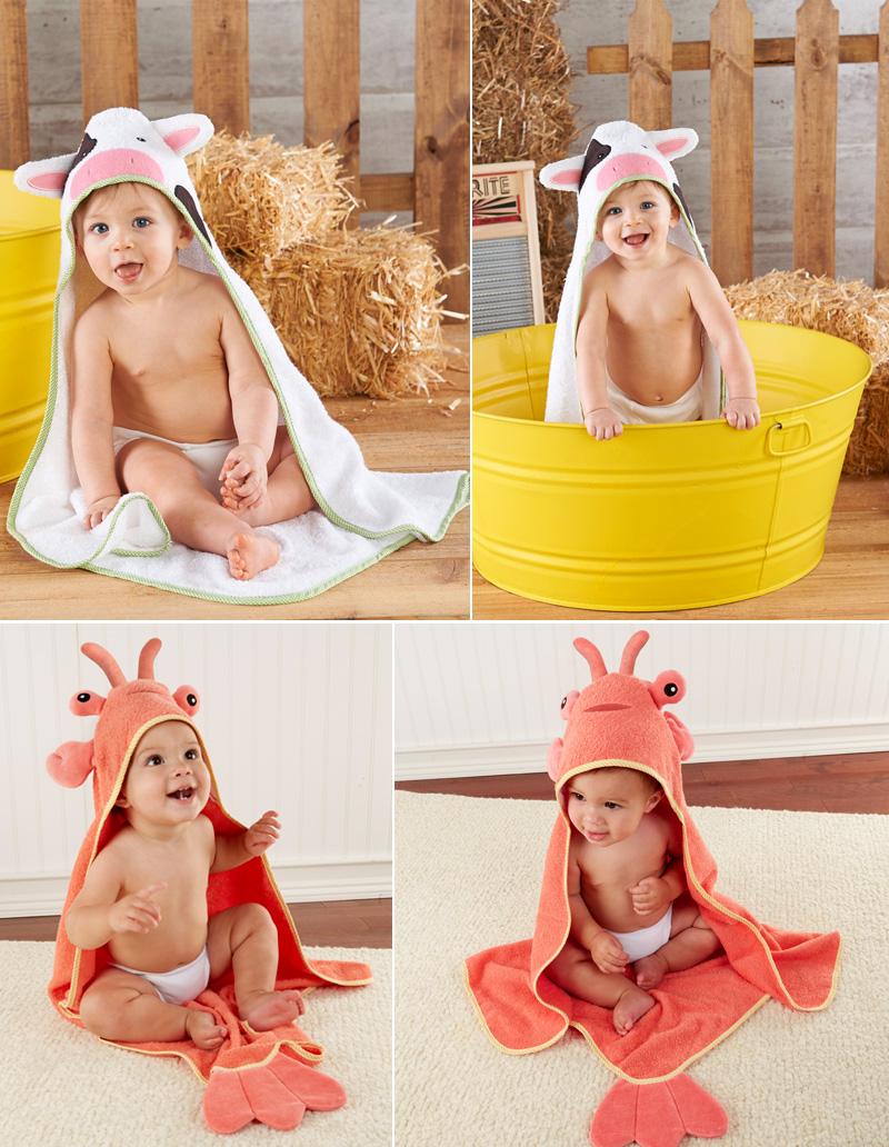Baby Aspen ベビーアスペン フード付きベビーバスタオル