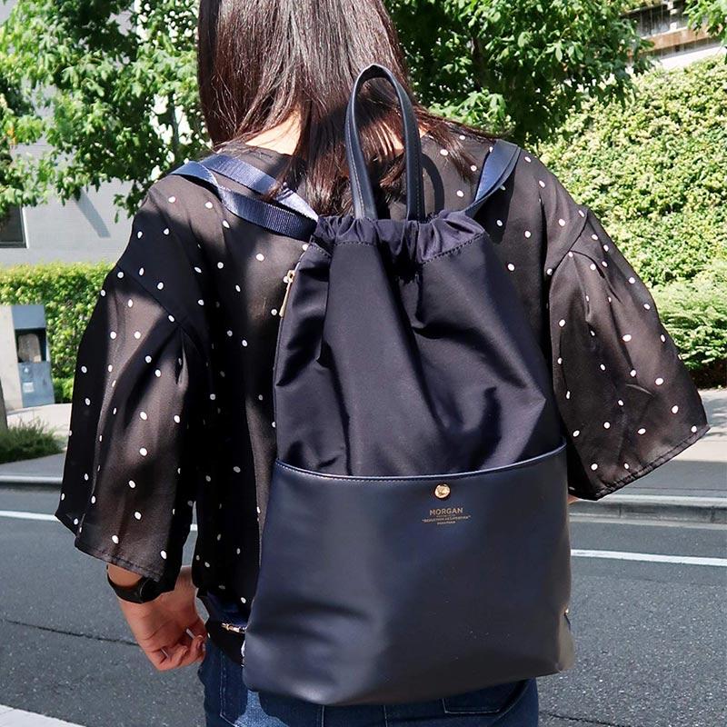 【MORGAN】 絞り型リュック MOD03