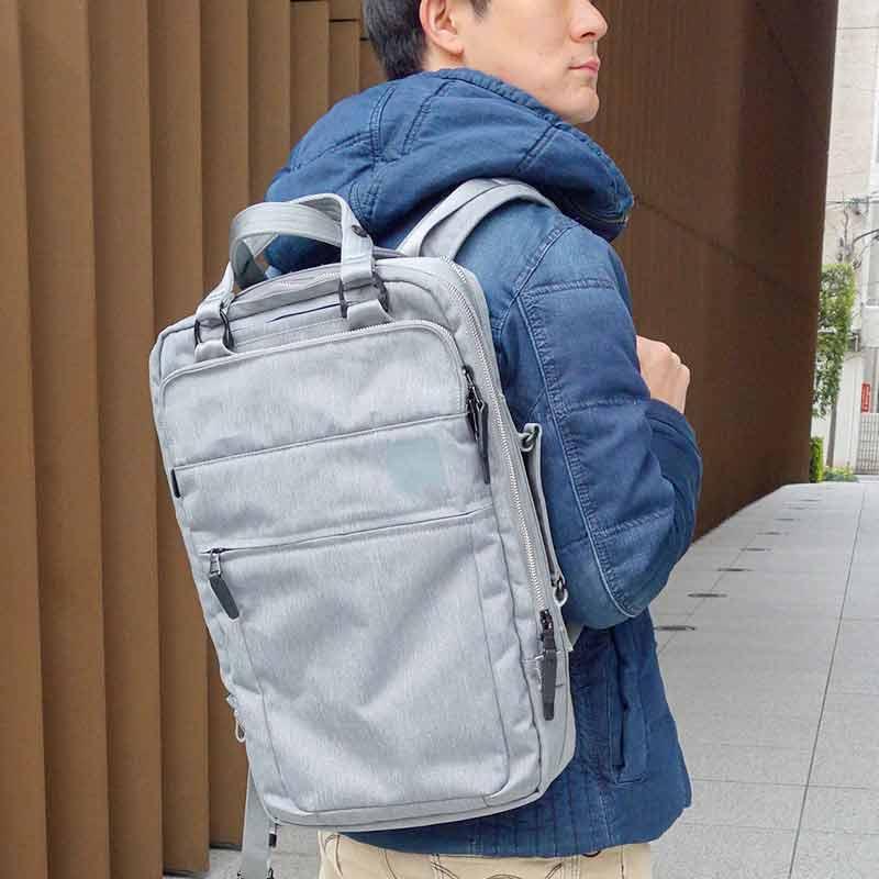 《日経新聞/メンズジョーカー掲載商品》 3wayポリエステルビジネスリュック【PID】 PAT101