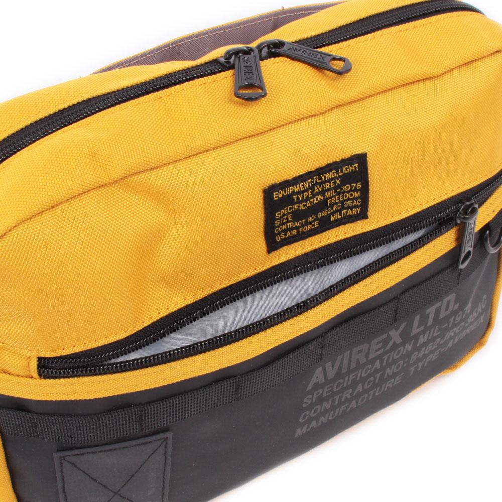 【AVIREX】 ショルダーバッグ 抗菌・防臭ポケット装備モデル AX2091