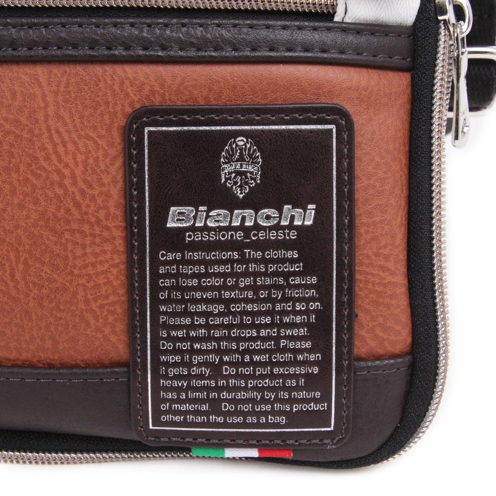 【Bianchi】コンパクトショルダーバッグ 合皮×ヘリンボーン生地 TBPI10H