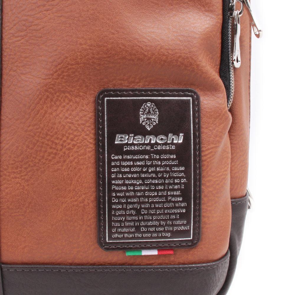 【Bianchi】 ボディバッグ 合皮×ヘリンボーン生地 TBPI12H