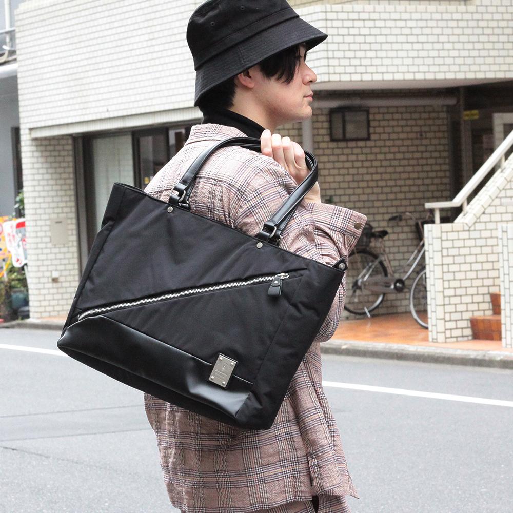 【Bianchi】《men's FUDGE掲載》 LEGGERO軽量ビッグトートバッグ TBKA05