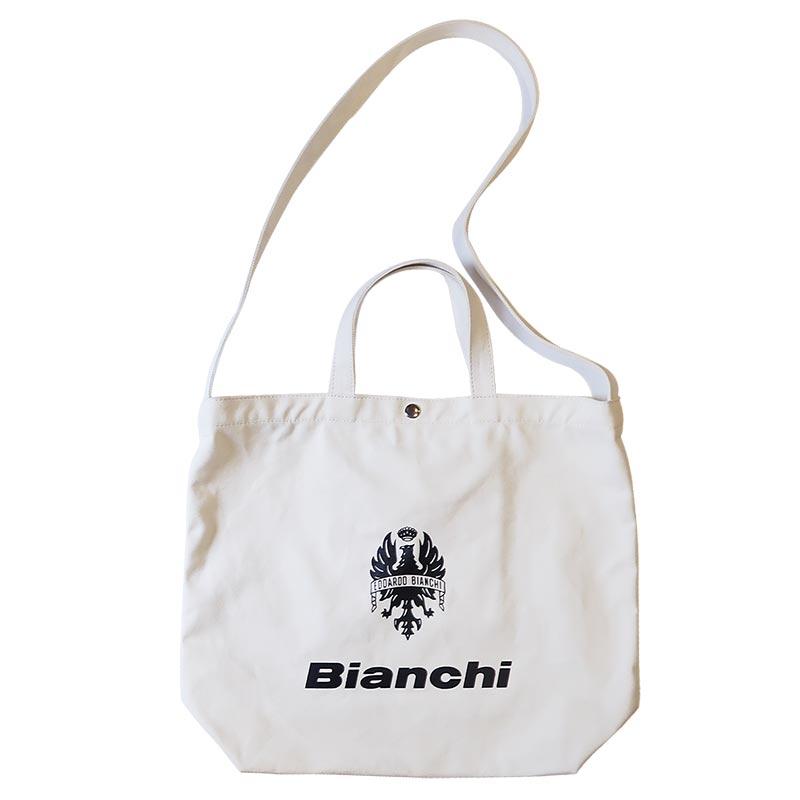 【Bianchi】2WAYロゴ入りキャンバストート WBHA01