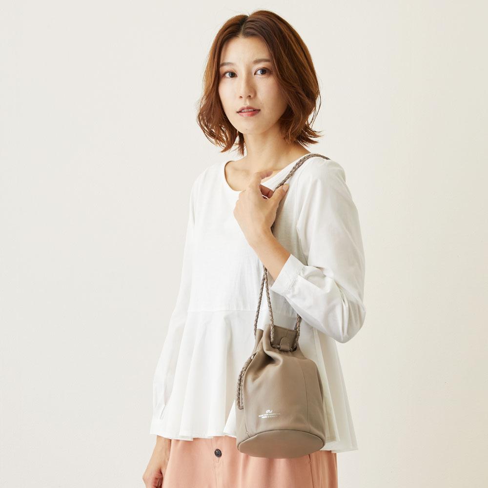 【PID】レザー巾着バッグ PAQ201