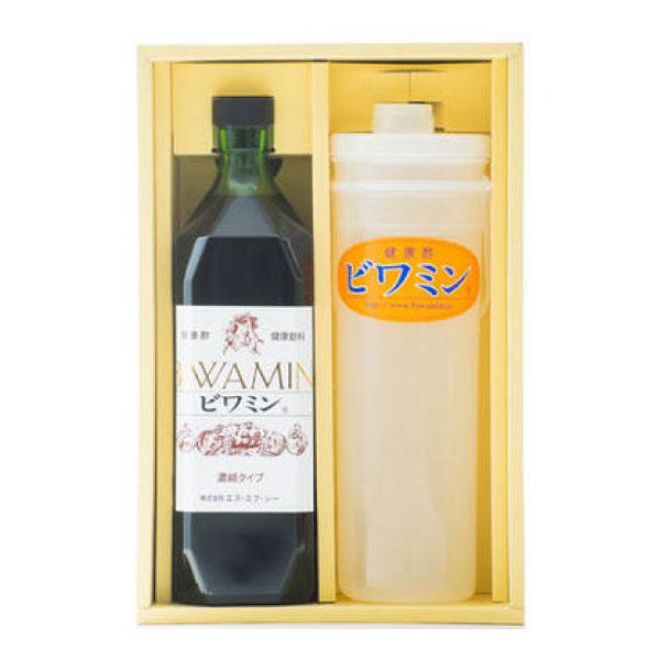 ビワミン ギフトセット ビワの葉エキス入り 健康ぶどう酢 ビワミン・希釈容器入 ギフトセット